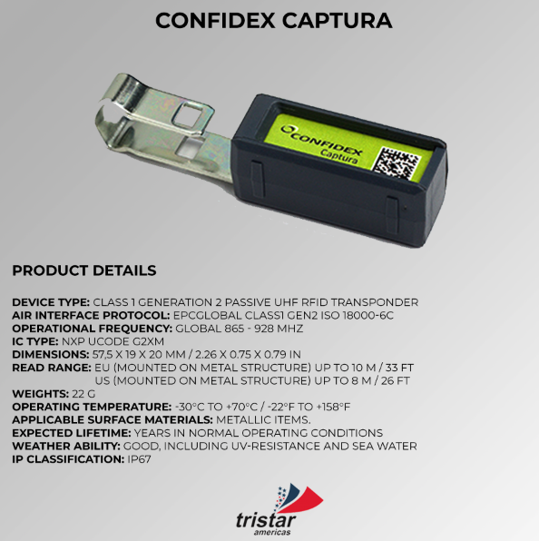 RFID Captura Tag Specifications