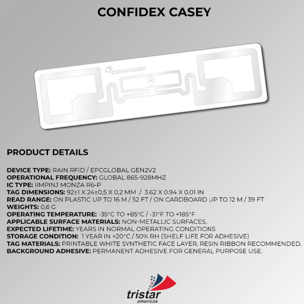 RFID Casey Tag Specifications