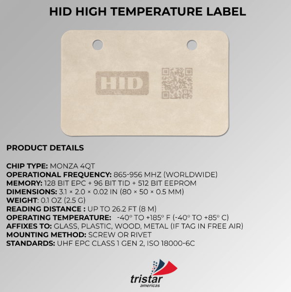 RFID high temperature specification