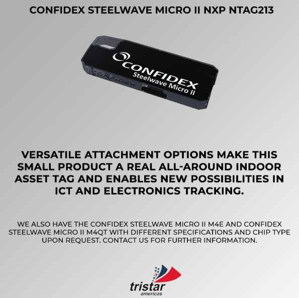 micro tag confidex steelwave Tristar Americas RFID, NFC, Beacons